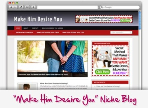 Pay for Make Him Desire You Niche Blog
