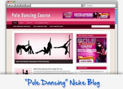 Pay for Pole Dancing Niche Blog - Highly Optimized Blogs