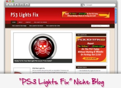 Pay for PS3 Lights Fix Niche Blog - Highly Optimized Blogs