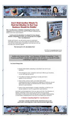 Pay for Your Business & Mobile Computing PLR Crash Course