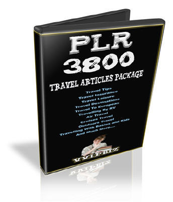 Pay for 3800+ PLR Travel Articles Package
