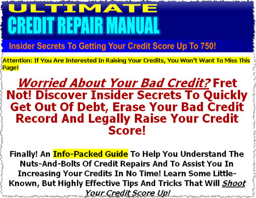 Pay for Ultimate Credit Repair Manual MRR Ebook