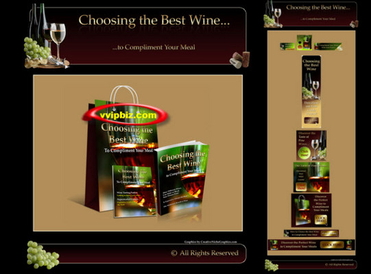 Pay for Wine Minisite Graphics With Resale Rights + eBook + PLR Articles