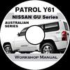 Thumbnail NISSAN PATROL GU Y61 AUSTRALIAN Petrol & Diesel ute/wagon WO