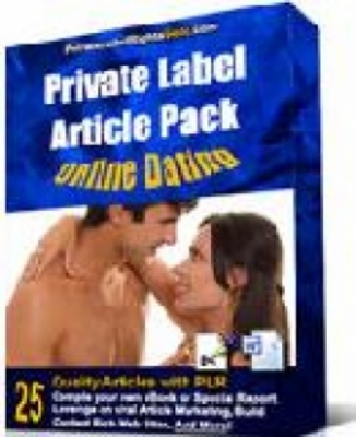 Pay for PLR (Private Label Rights) Online Dating Article Pack