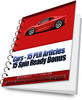 Thumbnail Cars - 15 PLR Articles Plus Bonus 15 Spin Ready Articles