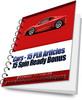 Thumbnail Cars - 15 PLR Articles Plus Bonus 15 Spin Ready Articles
