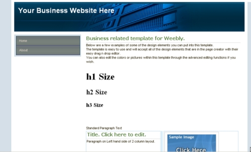 Pay for Weebly Template - Business Style