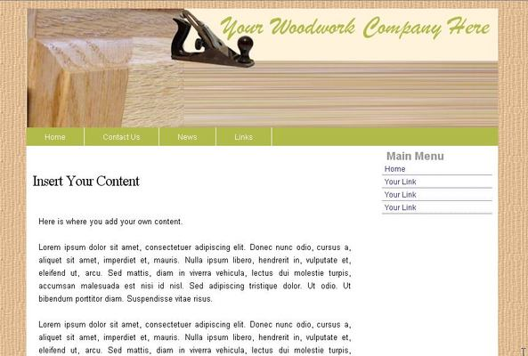 Pay for Woodwork Web Template 2