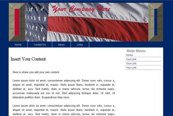 Web Template Patriotic USA