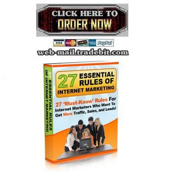 Pay for 27 Essential Rules of Internet Marketing