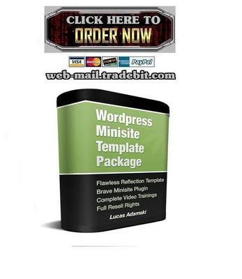 Pay for Wordpress Minisite Template Package