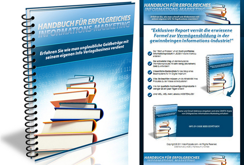 Pay for Info Marketing - Ebook - Verkaufseite - Squeeze Page - PLR