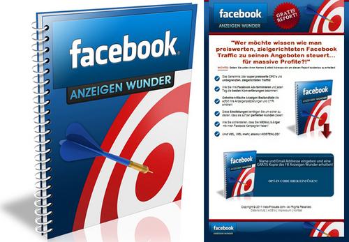 Pay for Facebook Anzeigen Wunder - Ebook - Verkaufseite  PLR
