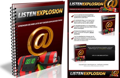 Pay for Listen Explosion - Ebook  Verkaufseite - Squeeze Page & PLR
