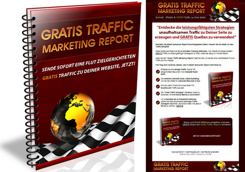 Pay for Gratis Traffic - Report - Verkaufseite - Squeeze Page & PLR