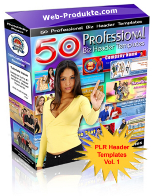 Pay for 50 Professionelle Business Header Templates V1 - PLR
