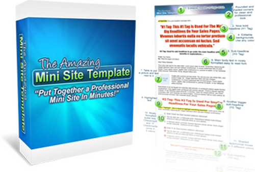 Pay for The Amazing Mini Site Template