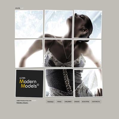 Pay for Ultra Modern Models - Flash Website mit Quelldateien