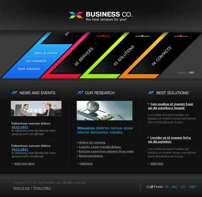 Pay for Business Company Flash Website mit Quelldateien
