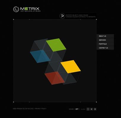 Pay for Metrix - Flash Website Template mit Quelldateien