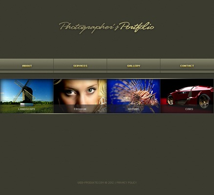 Pay for Flash Animated Photographers Portfolio With Source Files