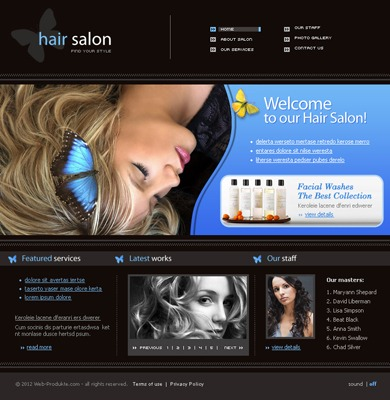 Pay for Hair Salon - Premium Flash Web Template With Source Files