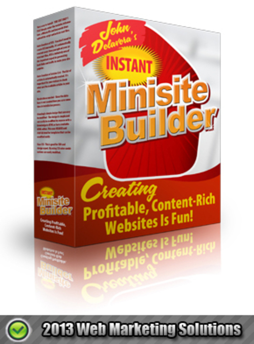 Pay for Instant Minisite Builder