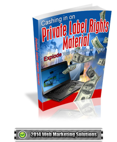 Pay for Cashing in on Private Label Rights Material