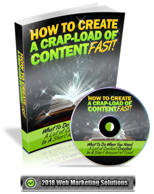 Pay for How To Create A Crap-Load Of Content Fast