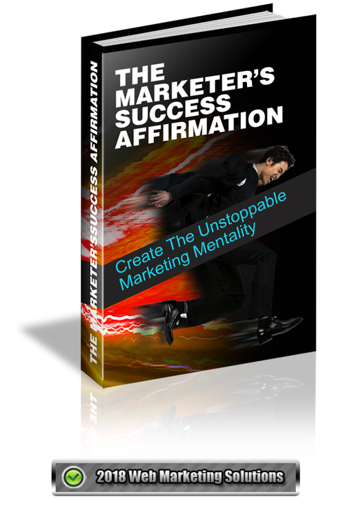 Pay for The Marketers Success Affirmation
