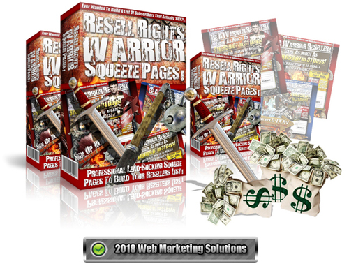 Pay for Resell Rights Warrior Squeeze Pages