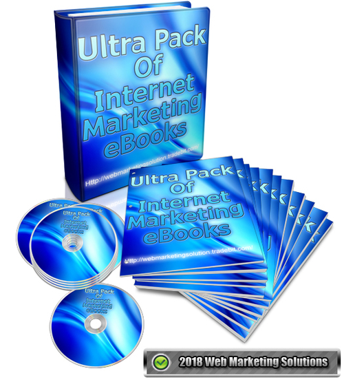Pay for Ultra Pack Of Internet Marketing eBooks Pack