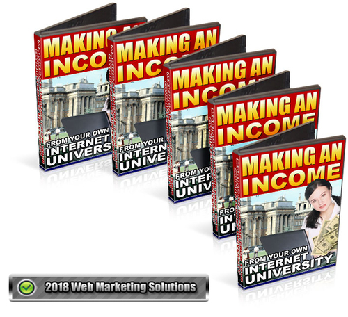 Pay for Making An Income From Your Own Internet University