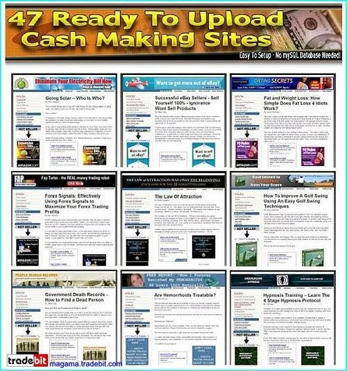 Pay for 47 Ready Made Clickbank Websites Mrr