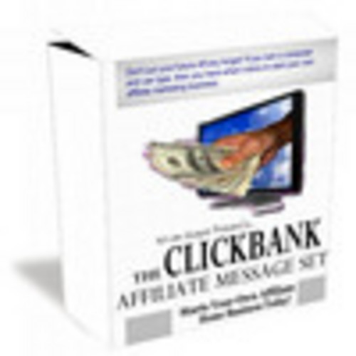 Pay for Clickbank Affiliate Message Set With Plr