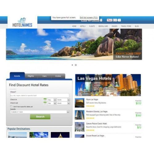 Pay for Turnkey Hotel/Flight/Car Booking Website - 100 AutoPilot