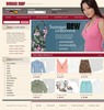 Thumbnail woman clothes online store templates