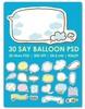 Thumbnail Say Balloon psd templates