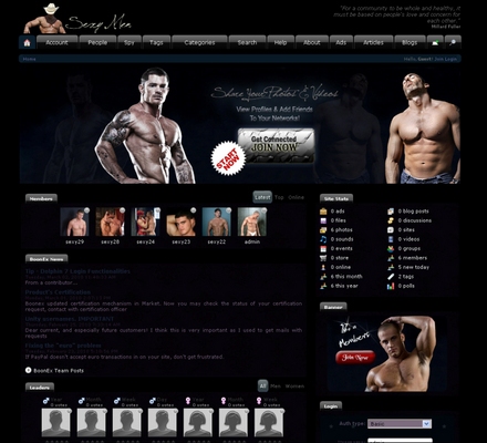 Pay for SexyMen Wild Dolphin Templates Blue