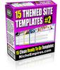 Thumbnail 15 Themed Site Templates Vol. 2  (MRR)