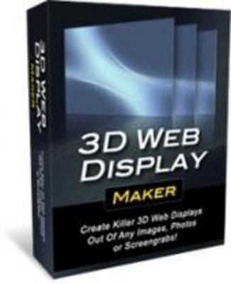Pay for **Brand New 3D Web Display Maker**