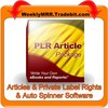 Thumbnail 184 Mixed Niche PLR Articles + Easy Auto Spinner Software