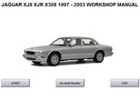 Thumbnail JAGUAR XJ8, XJR, X308 WORKSHOP MANUAL 1997 - 2003