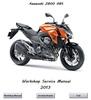 Thumbnail Kawasaki Z800 ABS Workshop Manual 2013