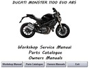 Thumbnail Ducati Monster 1100 EVO ABS Workshop Manual 2011 - 2013