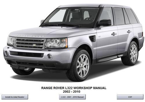 range rover l322 2007 2010 workshop service repair manual download workshop service repair. Black Bedroom Furniture Sets. Home Design Ideas