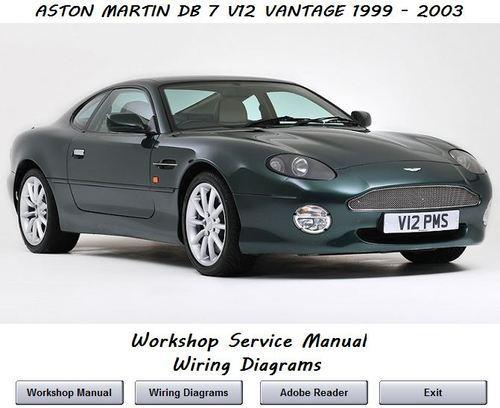 Aston Martin Db7 V12 Vantage 1999 - 2003 Workshop Service Re