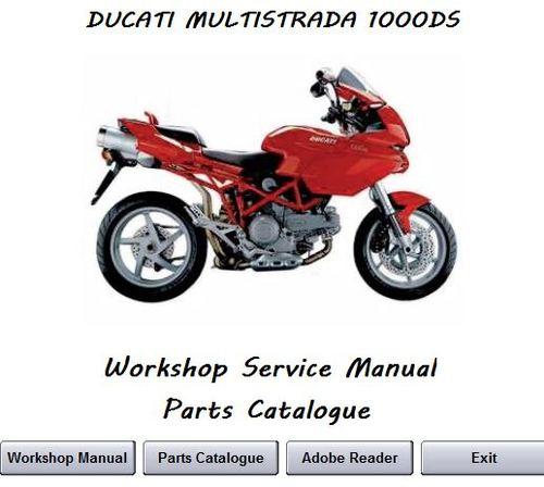 ducati multistrada 1000ds 2003 2008 workshop service. Black Bedroom Furniture Sets. Home Design Ideas
