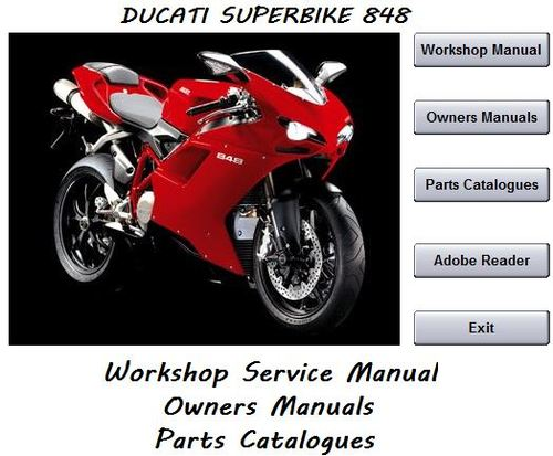 ducati superbike 848 workshop service manual 2008 2010. Black Bedroom Furniture Sets. Home Design Ideas